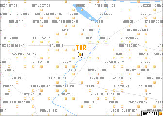 map of Tur