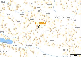 map of Tušanj