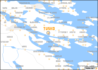 map of Tuskö