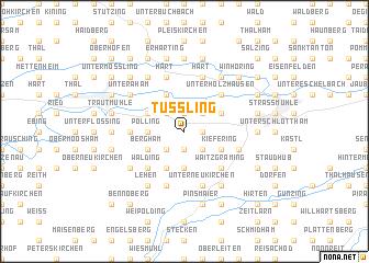 map of Tüßling