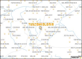 map of Tuszów-Kolonia