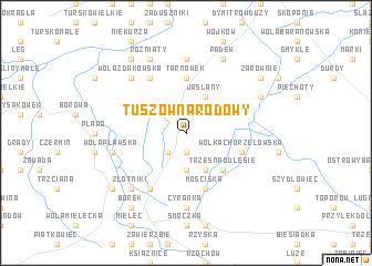 map of Tuszów Narodowy