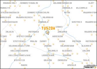 map of Tuszów