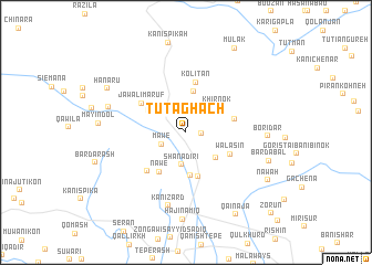 map of Tūt Aghāch