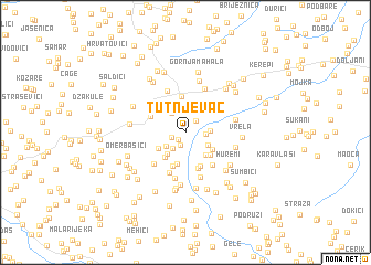 map of Tutnjevac