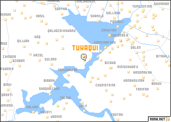 map of Tūwaqui