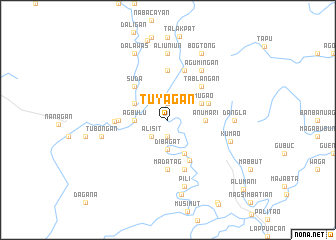 map of Tuyagan