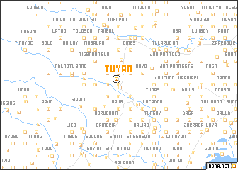 map of Tuy-an