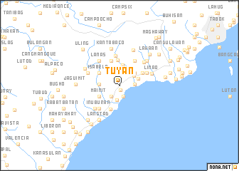 map of Tuyan
