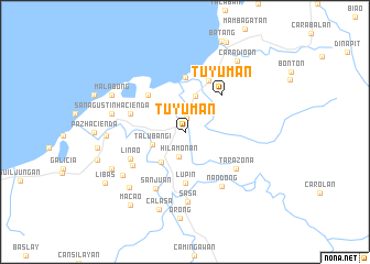 map of Tuyuman
