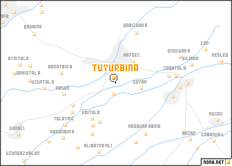 map of Tüyürbinǝ