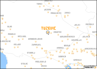 map of Tužević
