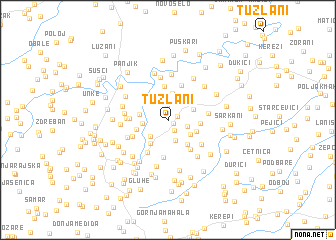 map of Tuzlani