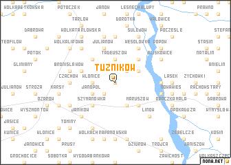 map of Tużników