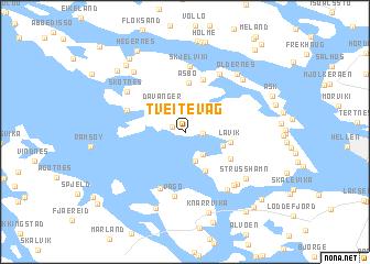 map of Tveitevåg