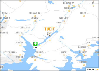 map of Tveit