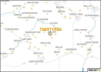 map of Twenty Row