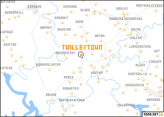 map of Twilley Town