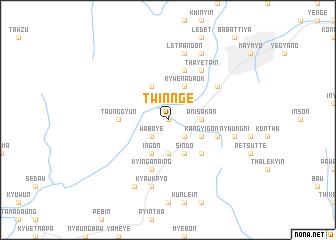 map of Twin-nge