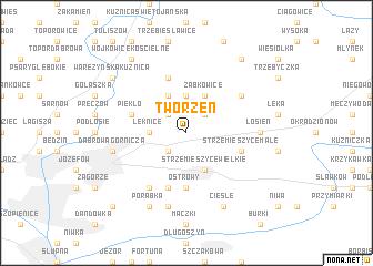 map of Tworzeń
