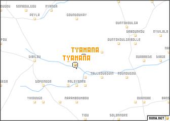 map of Tyamana