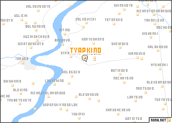 map of Tyapkino