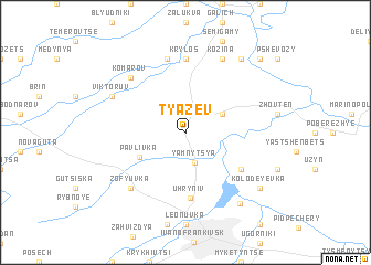 map of Tyazev