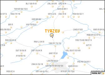 map of Tyazev