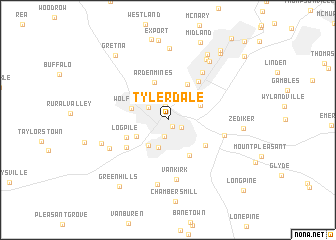map of Tylerdale