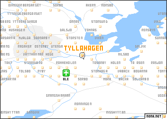 map of Tyllahagen