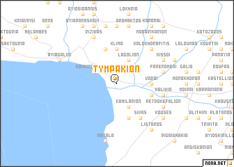 map of Tympákion