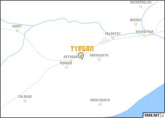 map of Tyrgan