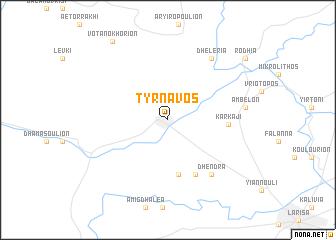 map of Týrnavos