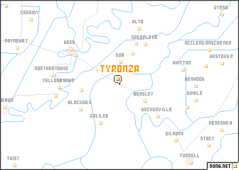 map of Tyronza