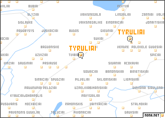 map of Tyruliai