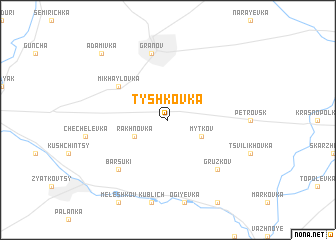 map of Tyshkovka