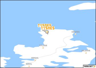 map of Tysnes