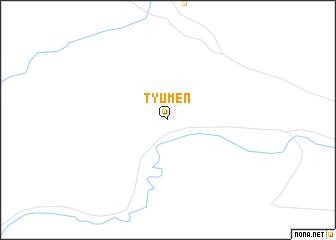 map of Tyumen\