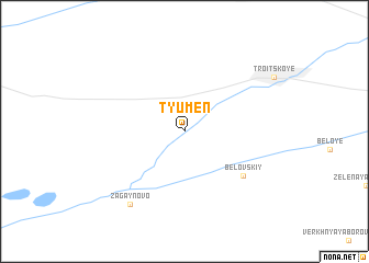 map of Tyumen\
