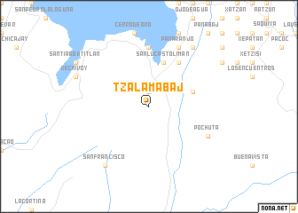 map of Tzalamabaj
