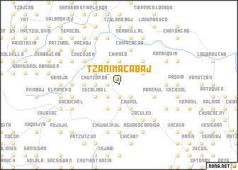map of Tzanimacabaj