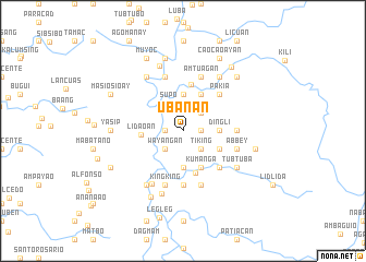 map of Ubanan