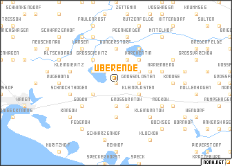 map of Überende