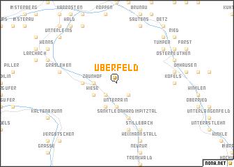 map of Überfeld