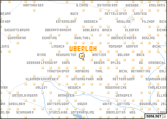 map of Überloh