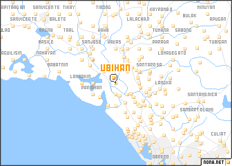 map of Ubihan
