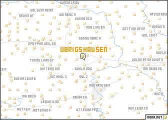 map of Übrigshausen
