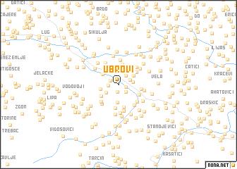 map of Ubrovi