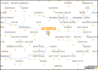 map of Uchanie