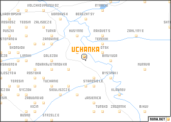 map of Uchańka